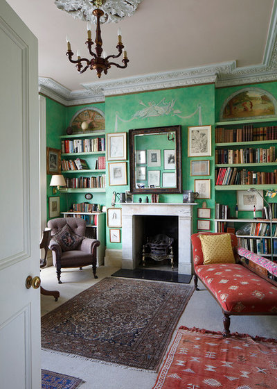 Traditional Home Office & Library by James Balston Photography