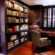 Traditional Home Office by Lisa Wolfe Design, Ltd