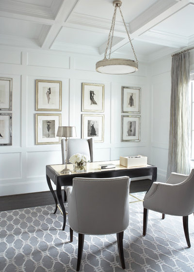 American Traditional Home Office by Linda McDougald Design | Postcard from Paris Home