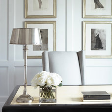 Traditional Home Office by Linda McDougald Design | Postcard from Paris Home