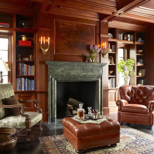 Library Fireplace | Houzz
