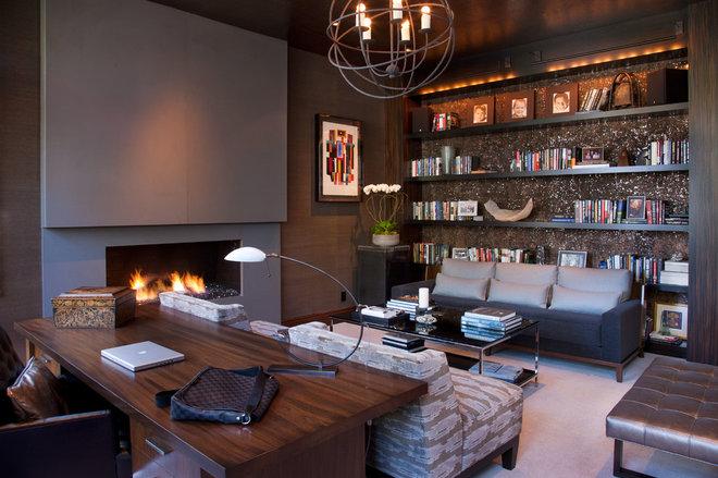 Contemporary Home Office by Lori Gentile Interior Design