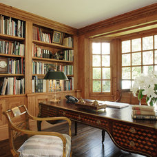 Traditional Home Office by Timothy Corrigan, Inc.