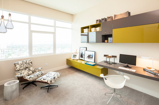 Contemporary Home Office by Susan Manrao Design