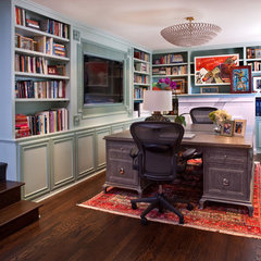eclectic home office by Elizabeth Gordon