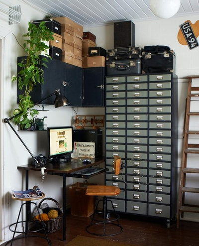 Industrial Home Office by Joanna Thornhill Interiors