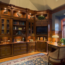 Traditional Home Office by Carisa Mahnken Design Guild