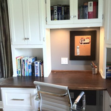 Traditional Home Office by Rebecca Mitchell Interiors & Boutique
