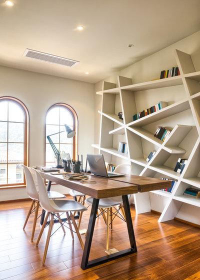 Contemporain Bureau à domicile by Addition Building & Design, Inc.
