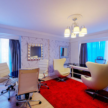 Home office after interior decor