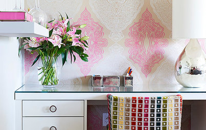 Room of the Day: A Stylish Mom Cave Inspires Creativity and Girl Time