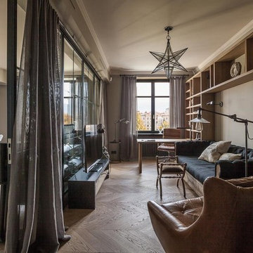 Home Office & Library, Family apartment, Hampstead