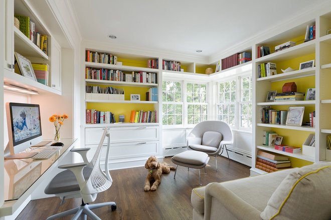 Traditional Home Office by U+B Architecture & Design
