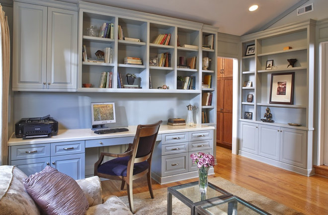 Traditional Home Office by Studio D, LLC