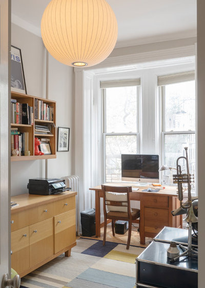 Contemporary Home Office by Julia Mack Design, LLC