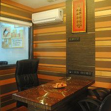 Contemporary Home Office by Anish Motwani Associates