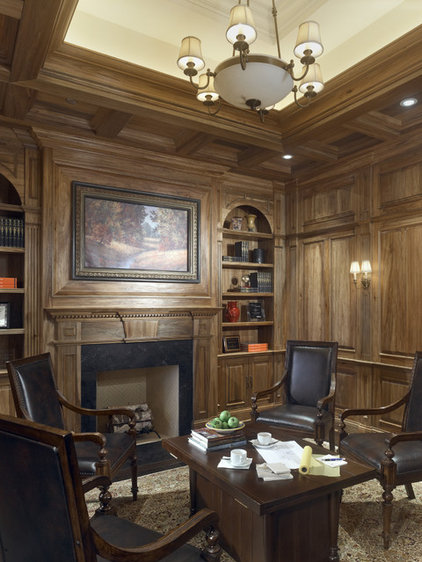 Traditional Home Office by Benvenuti and Stein