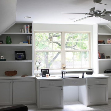 Home Office Built-In Desk & Cabinetry
