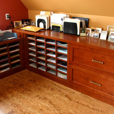 Contemporary Home Office by Cadieux Woodworking Inc.