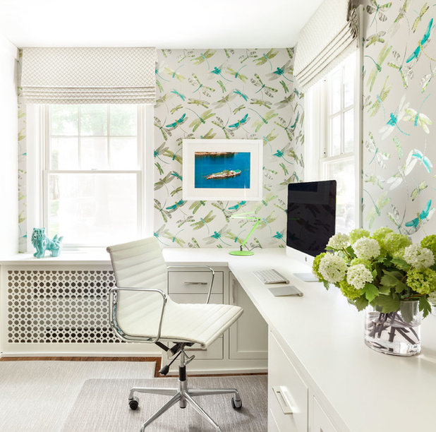 Contemporary Home Office by Clean Design