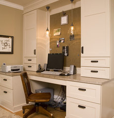 traditional home office by Kayron Brewer, CKD, CBD / Studio K B