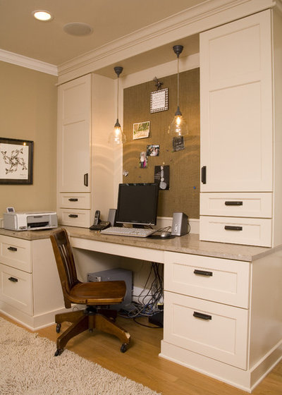 Traditional Home Office by Kayron Brewer, CMKBD / Studio K B
