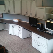 Contemporary Home Office by Custom Storage Solutions