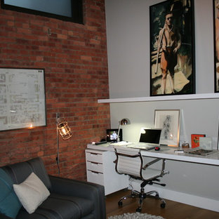 Example Of A Trendy Home Office Design In New York