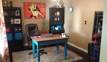 Home office/den pop of color