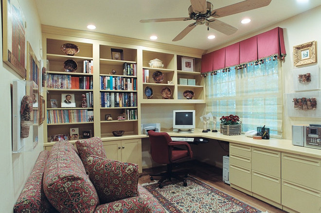 Eclectic Home Office by Designing Solutions