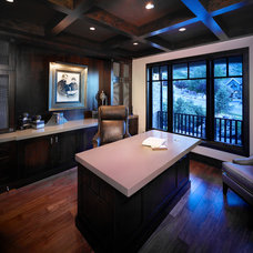 Transitional Home Office by Designs by Craig Veenker