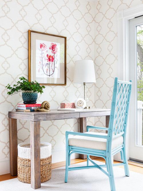 elegant home office houzz. Black Bedroom Furniture Sets. Home Design Ideas