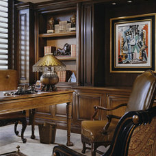 Traditional Home Office by Donna Livingston Design