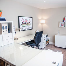 Contemporary Home Office by Niche reDesign