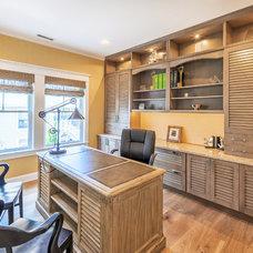 Beach Style Home Office by Echelon Custom Homes