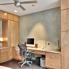 Contemporary Home Office by Echelon Custom Homes
