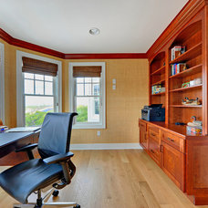 Transitional Home Office by Echelon Custom Homes