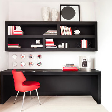 Home Office - Essential Modern Red Black and White