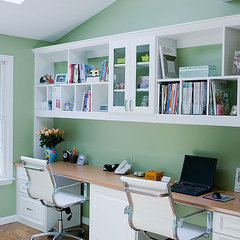 contemporary home office by Nanette Baker of Interiors by Nanette