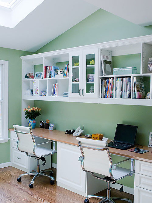 office for two people home design ideas pictures remodel and decor. Black Bedroom Furniture Sets. Home Design Ideas