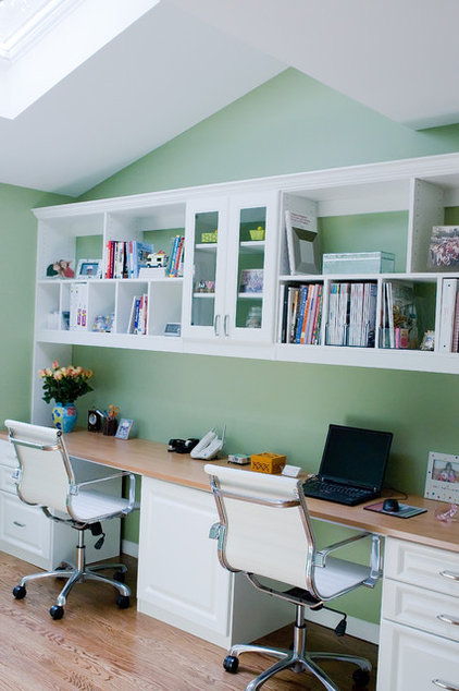 Contemporary Home Office by Nanette Baker of Interiors by Nanette, LLC