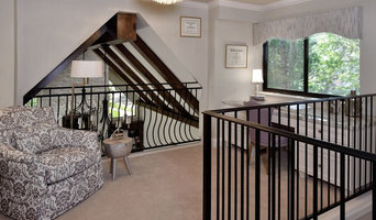 Home Office Glam - View over Stairway