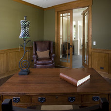 Craftsman Home Office by Great Rooms Designers & Builders