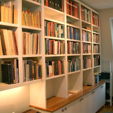 Contemporary Home Office by Grindl Woodworking