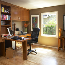 traditional home office by Harrell Remodeling