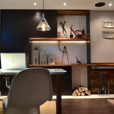 Contemporary Home Office by Design Cube Inc.