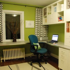 eclectic home office Home Office