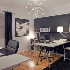 contemporary home office B&W home office
