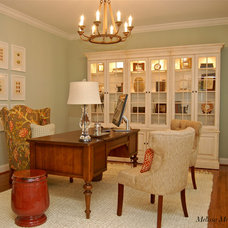 Traditional Home Office by Melissa McLay Interiors