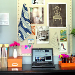 eclectic home office by Erika Ward - Erika Ward Interiors
